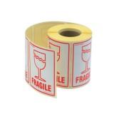 Adpac Parcel Labels Fragile 108x79mm on Roll Diameter 210mm Code SG108FR