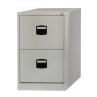 Image for Trexus Filing Cabinet Steel Lockable 2 Drawer W470xD622xH711mm Grey