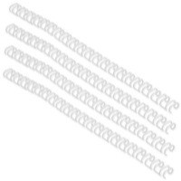 GBC Binding Wire Elements A4 6mm 34-Loop Wires 3:1 Pitch White Pack of 100 RG810470