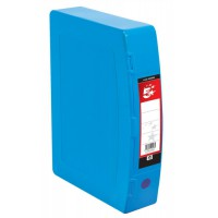 Image for 5 Star Box File Polypropylene with Twin Clip Lock Foolscap Blue