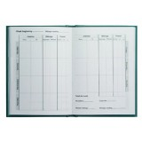 Collins Mileage Record Book A6 148x105mm Green MRB1