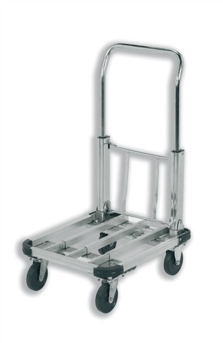 RelX Platform Truck Lightweight Aluminium Adjustable Capacity 100kg Foot Size W415xL500-725mm Ref PH153