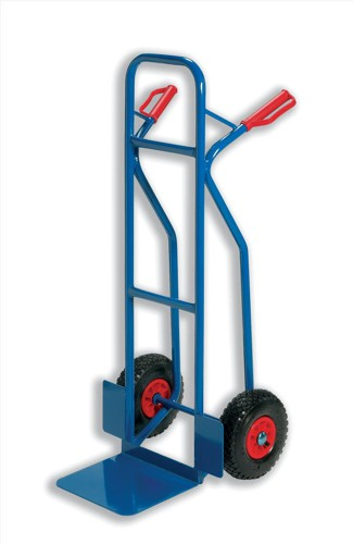 RelX Warehouse Hand Trolley Sturdy Capacity 180kg Foot Size 476x510mm Blue Code HT2502