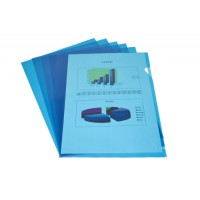 Image for Elba Cut Flush Folder 80 Micron A4 Open Two Sides Blue Ref 100206547 [Pack 100]