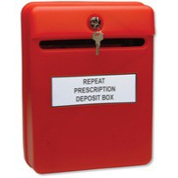 Image for Post or Suggestion Box Wall Mountable with Fixings Red