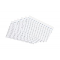 Image for 5 Star Record Cards Ruled Both Sides 6x4in 152x102mm White [Pack 100]