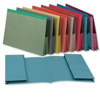 Image for Guildhall Legal Wallet Double Pocket Reinforced Manilla 315gsm 2x35mm Foolscap Red Ref 218-REDZ [Pack 25]