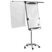 Image for Nobo Piranha Flipchart Easel Magnetic Large with Extending Display Arms Mobile on 5 Castors Ref 1901920