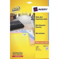 Avery Mini Labels Laser 65 per Sheet 38.1x21.2mm White Ref L7651-250 [16250 Labels]