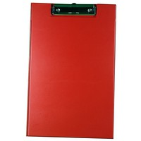 Image for Rapesco Clipboard Fold-over with Pocket and Pen Holder Foolscap Red Ref VFDCB0R3