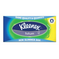 Image for Kleenex Balsam Facial Tissues Box 3 ply with Protective Balm 80 Sheets Ref M02275