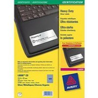 Avery Heavy Duty Labels Laser 27 per Sheet 63.5x29.6mm Silver Ref L6011-20 [540 Labels]