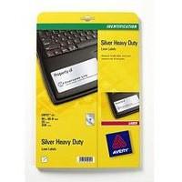Avery Heavy Duty Labels Laser 10 per Sheet 96x50.8mm Silver Ref L6012-20 [200 Labels]