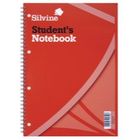 Image for Silvine Student Spiral Notebook Soft Cover 60 Sheets 297x210mm Ref 141 [Pack 12]