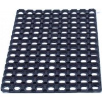 Image for Door Mat Indoor and Outdoor Rubber 600mmx800mm Black
