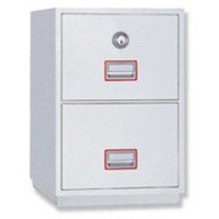 Image for Phoenix Firefile Filing Cabinet Fire Resistant 2 Lockable Drawers 145Kg W530xD675xH805mm Ref 2242