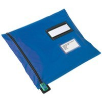Image for Versapak Mailing Pouch Durable PVC-coated Nylon 355x470mm Blue Ref CVF3BL