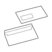 Image for 5 Star Value Envelope Press Seal Window Wallet DL White [Pack 1000]