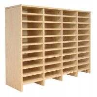 Image for Tercel Post Room Sorter Hutch Add-on Double Height 4 Bay Can Fit 44 Shelves W1280xD360xH1145mm Maple
