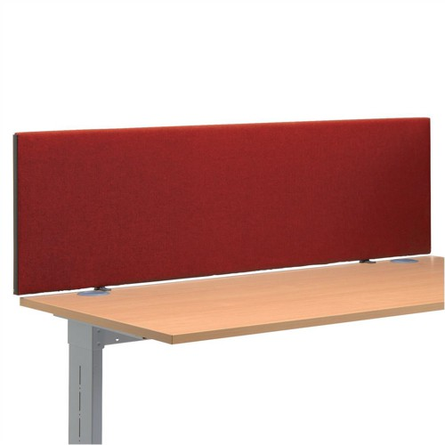 Trexus 1200 Desktop Screen with Easy-fit Clamps W1200xH450mm Burgundy