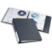 Image for Durable CD and DVD Pocket for Index 40 Ring Binder Capacity 4 Disks A4 Clear Ref 5222/19 [Pack 5]
