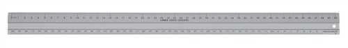 Linex Hobby Cutting Ruler Anti-Slip Light Aluminium 1 Bevelled Side 1 Plain Side 50cm Code LXE2950M