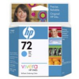 HP No.72 Inkjet Cartridge 69ml Cyan Code C9398A