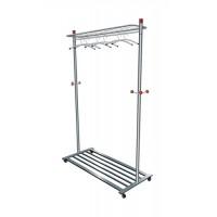 Image for Alba Coat and Garment Rack Mobile Lockable Castors Capacity 40-50 Hangers W1140xD550xH1800mm Ref PMLUX6