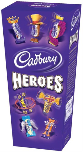 Cadburys Heroes Miniature Chocolates Selection Box 200g Code A07566