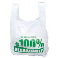 Image for Ambassador Vest Style Carrier Bags Large Eco-degradable W275xD425xH525mm Ref CB-SPIC01-B [Pack 2000]