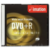 Image for Imation DVD+R Recordable Disk Write Once Cased Printable 16x Speed 120min 4.7GB Ref i22374 [Pack 10]