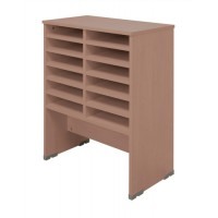 Image for Tercel Post Room Sorter Base 2 Bay W640xD360xH870mm Beech