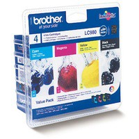 Brother LC980 Ink Cartridge Multipack Code LC980VALBP