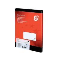 Image for 5 Star Addressing Labels Inkjet 18 per Sheet 63.5x46.6mm White [1800 Labels]