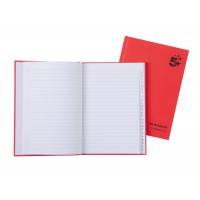 Image for 5 Star Manuscript Book Casebound 70gsm Ruled and Indexed 192 Pages A5 [Pack 5]