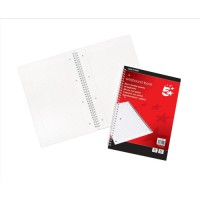 Image for 5 Star Notebook Wirebound 70gsm Ruled and Margin Perforated 100 Pages A4
