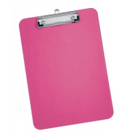 Image for 5 Star Clipboard Plastic Durable with Rounded Corners A4 Pink
