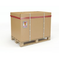 Image for 1/2 Euro Palletised Container 770 x 570 x 660 Pallet/Cap/Sleeve/Tray