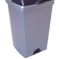 Image for Addis 24 Litre Rolltop Bin Base Metallic 9751MET