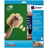 Image for Avery Write and Wipe Shapes Yellow Clouds Pack of 4 24914