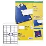 Avery Mini Inkjet Label 45.7x25.4mm 40 per Sheet Pack of 25 White J8654-25