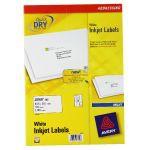 Avery QuickDRY Inkjet Label 63.5x38.1mm 21 per Sheet Pack of 100 J8160-100