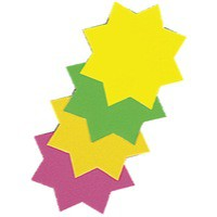 Image for Bright Ideas Ticket Board Star Pack of 50 Assorted BI1040