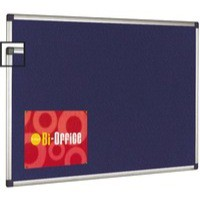 Image for Bi-Office Felt Board 1200x900mm Blue Aluminium Frame FA0543170