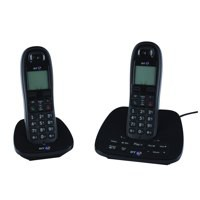 Image for BT 1500 DECT Telephone/Answering Machine Twin Black 066857