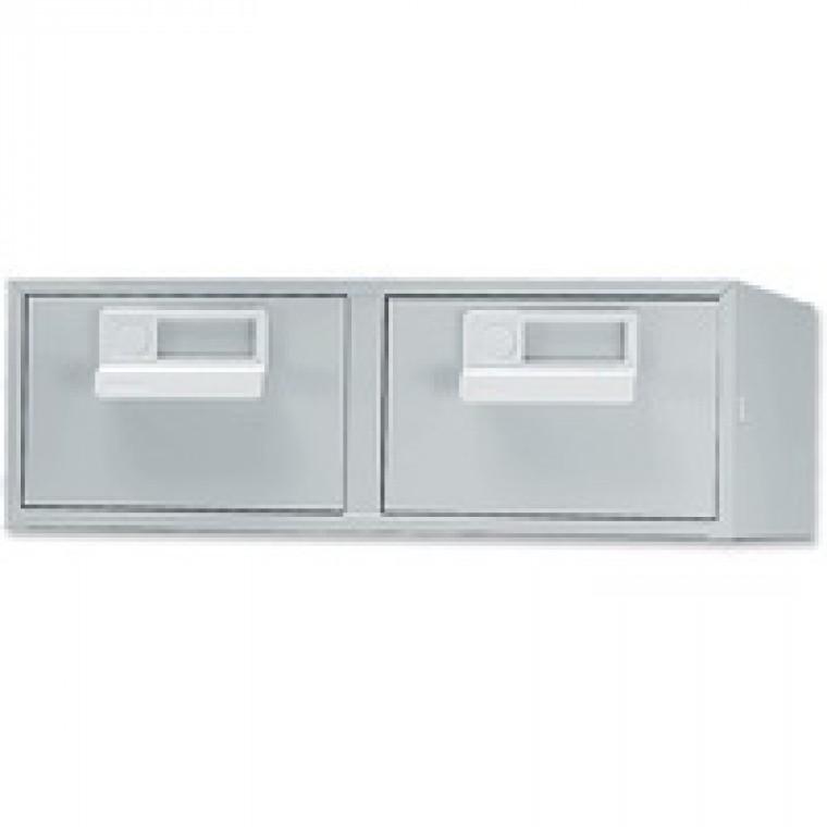 Bisley Grey Card Index Cabinet 6x4in DBL