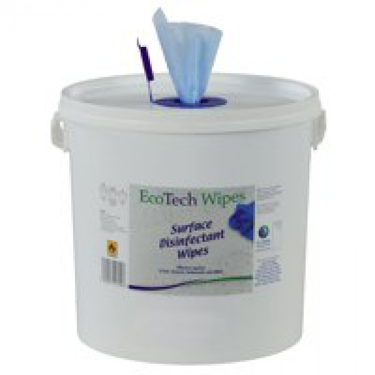 2Work Disinfectant Wipe Bucket of 1000