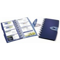 Image for Durable Visifix 200 Business Card Album Dark Blue 2385/07