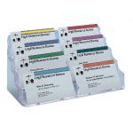 Deflecto 4-Tier 8-Pocket Business Card Holder Crystal DE70801
