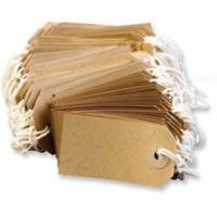 Image for Fisher Clark Tags Strung 4A 108x54mm Buff Single Pack of 1000 TG8073